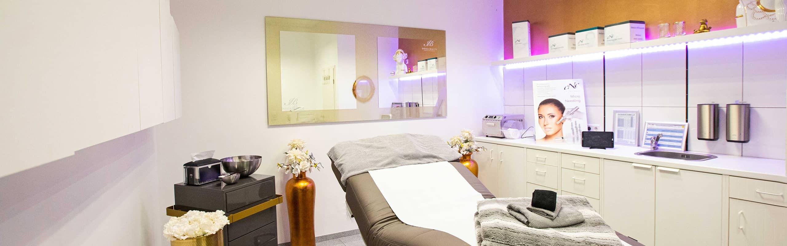 behandlungs raum zur kosmetischen pflege bei inessa beauty
