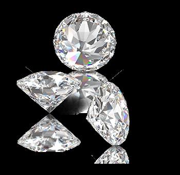drei funkelnde diamanten